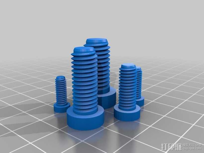 螺丝 3D打印模型渲染图