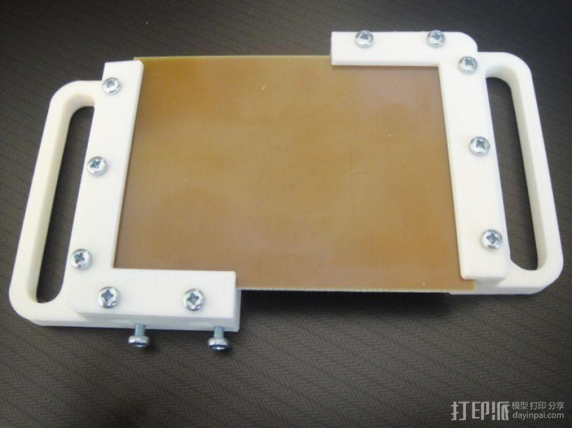 电路板夹具 3D打印模型渲染图