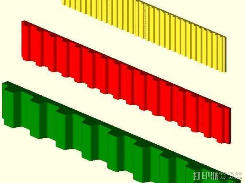 参数化同步皮带  3D打印模型渲染图
