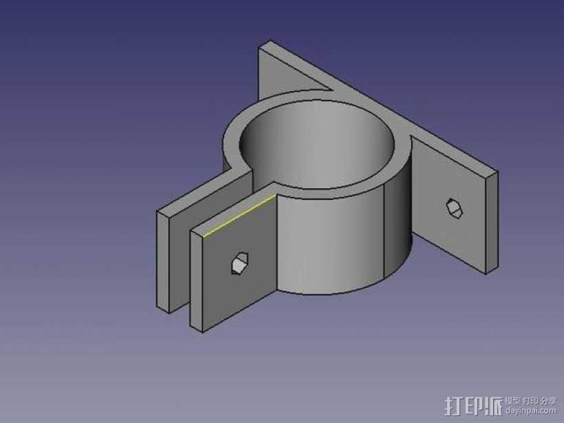 参数化PVC管夹 3D打印模型渲染图