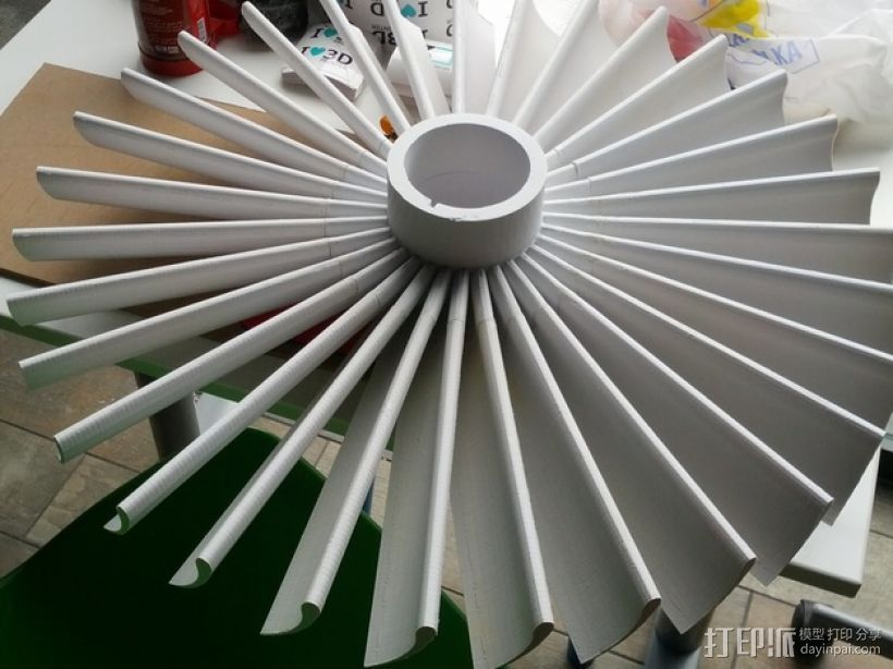 涡轮 3D打印模型渲染图