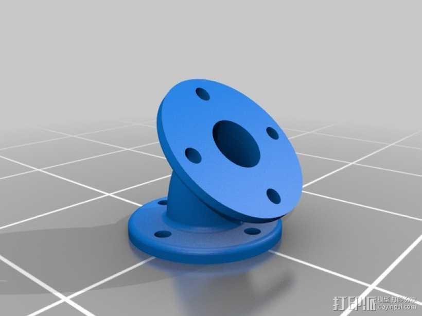弯头法兰 3D打印模型渲染图