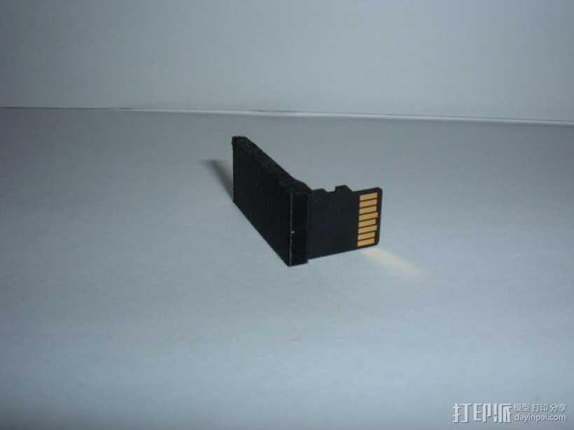 迷你SD卡卡槽 3D打印模型渲染图