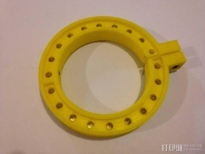 LED环形照明设备 3D打印模型渲染图