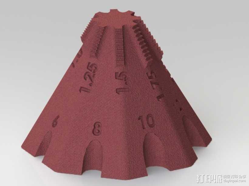 锥形螺纹规 3D打印模型渲染图