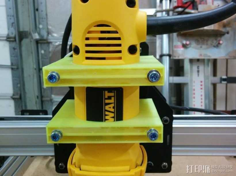 ShapeOko 2 CNC设备支架 3D打印模型渲染图
