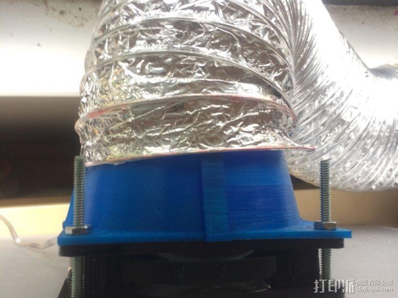 风扇管道配适器 3D打印模型渲染图