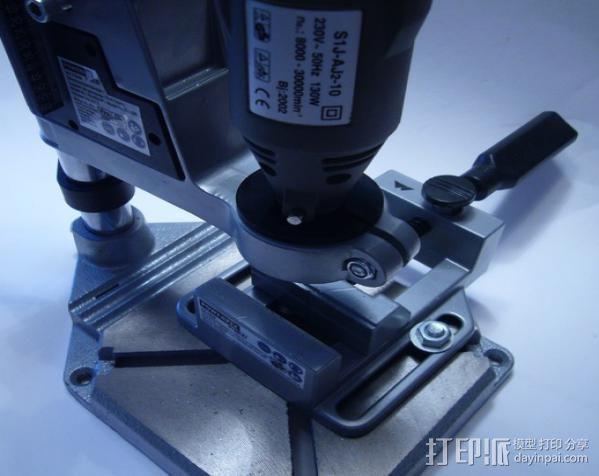 Dremel电钻钻床配适器 3D打印模型渲染图