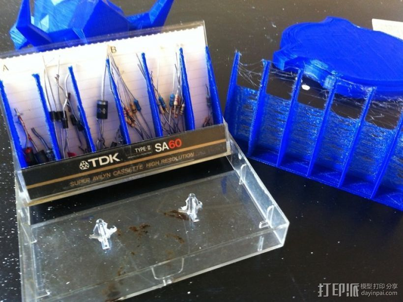 磁带 工具盒 3D打印模型渲染图