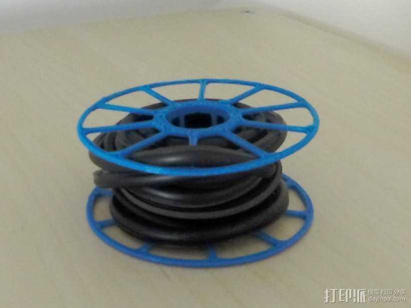 电缆卷绕器 3D打印模型渲染图