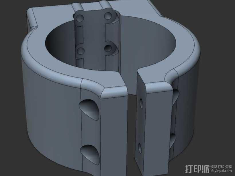 Shapeoko2主轴托架 3D打印模型渲染图