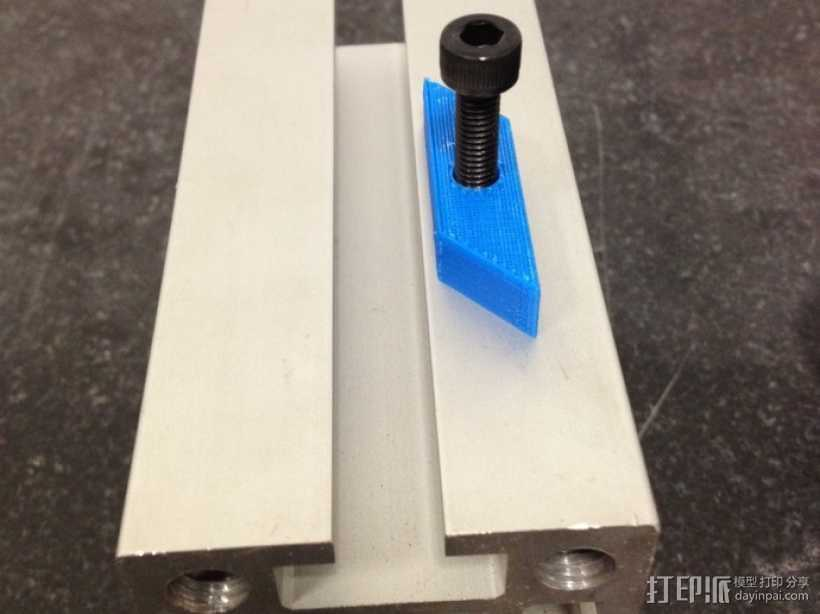 自调整T形螺母 3D打印模型渲染图