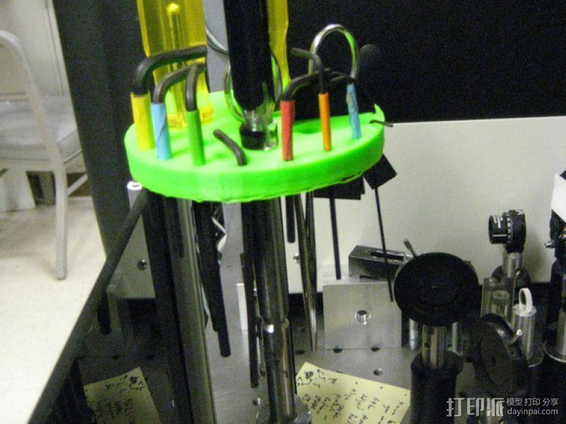 圆形工具架 3D打印模型渲染图