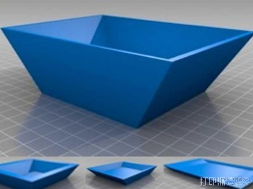 简易&参数化托盘  3D打印模型渲染图