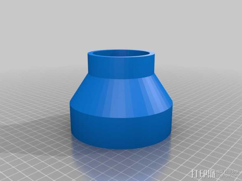带锯机防尘接口 3D打印模型渲染图
