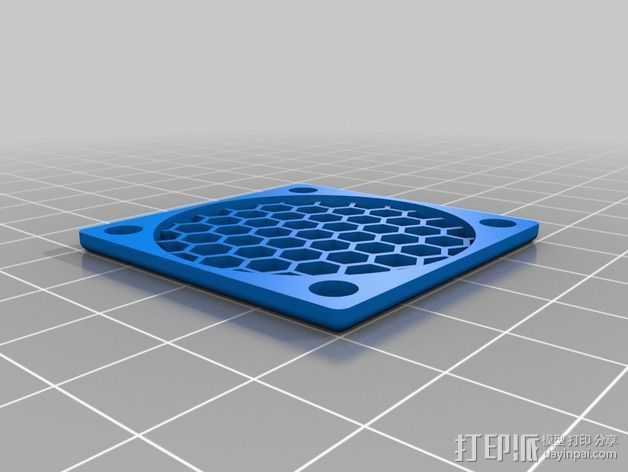 40毫米风扇罩 3D打印模型渲染图