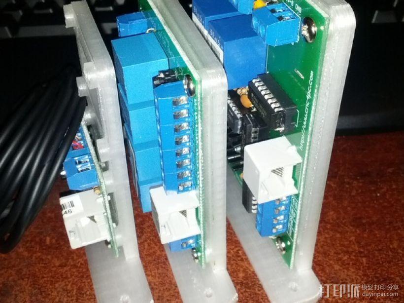 C3/C6电路板底座 3D打印模型渲染图