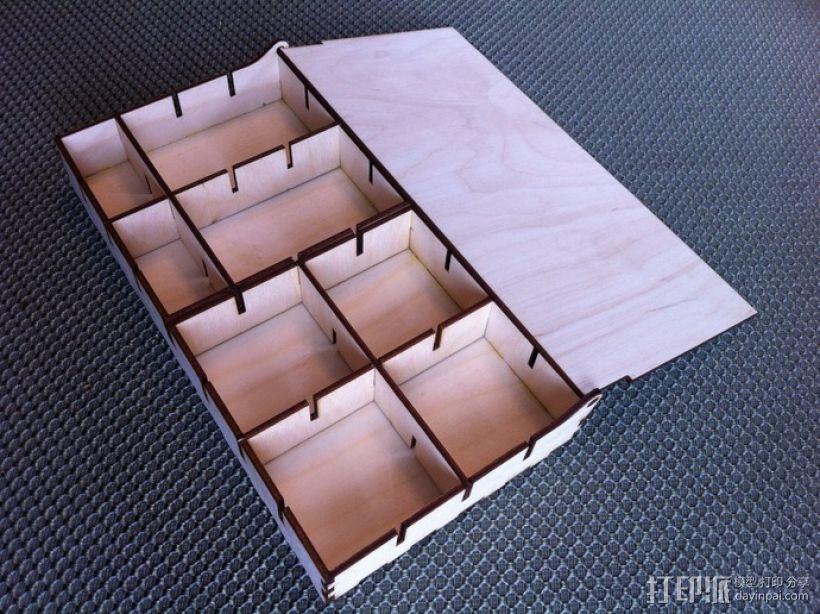 零部件收纳盒 3D打印模型渲染图