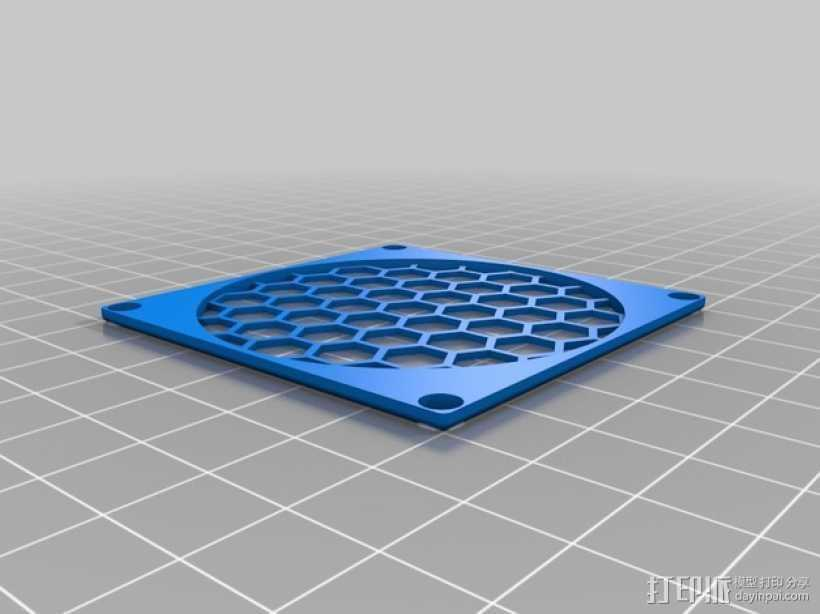 60毫米风扇罩 3D打印模型渲染图