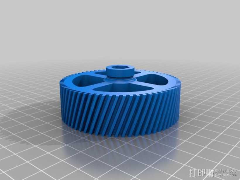 螺旋齿轮  3D打印模型渲染图