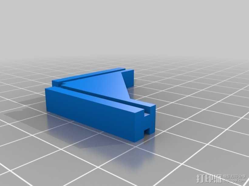 T字形支架 3D打印模型渲染图