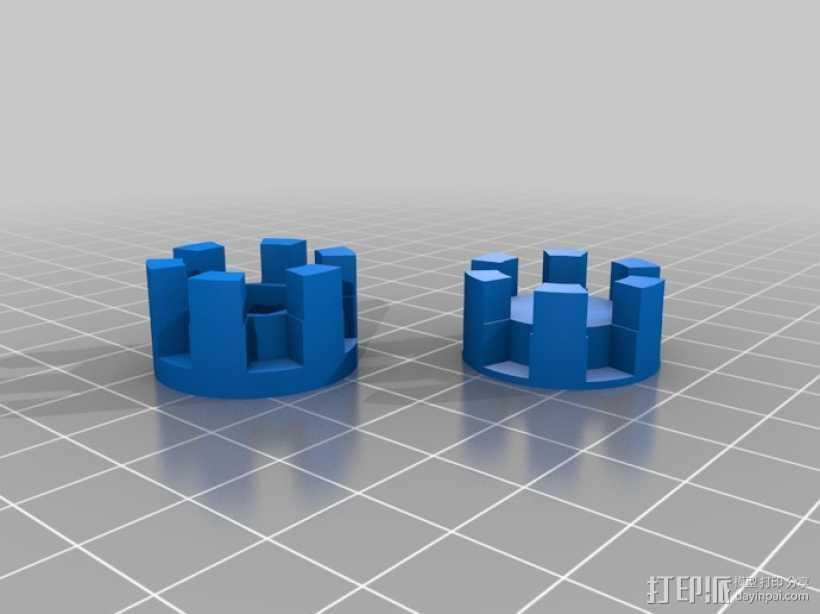 参数化爪形联轴器 3D打印模型渲染图