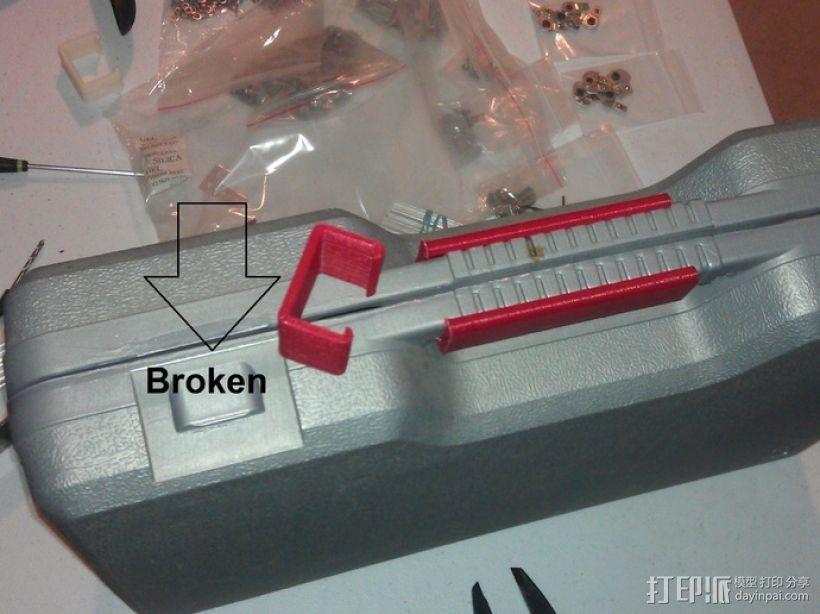 电动工具盒 固定夹 3D打印模型渲染图
