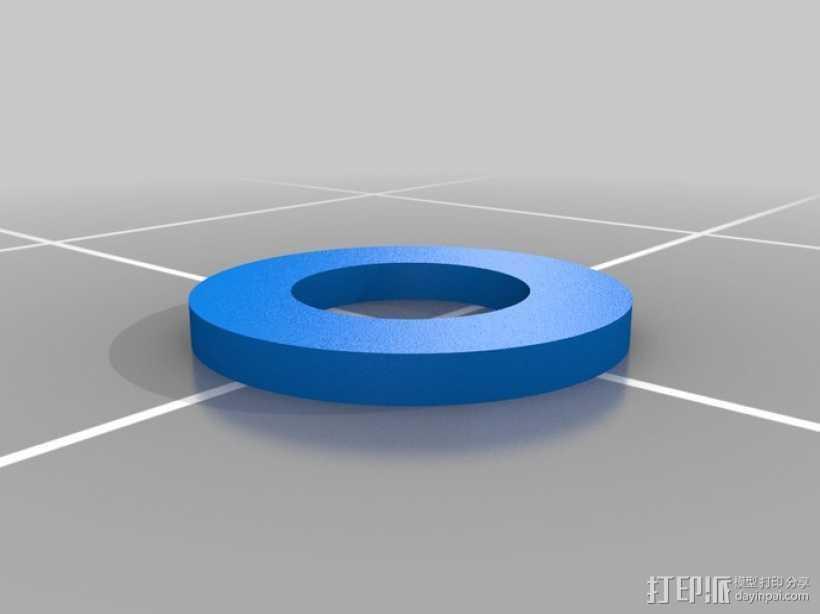 定制化垫圈  3D打印模型渲染图