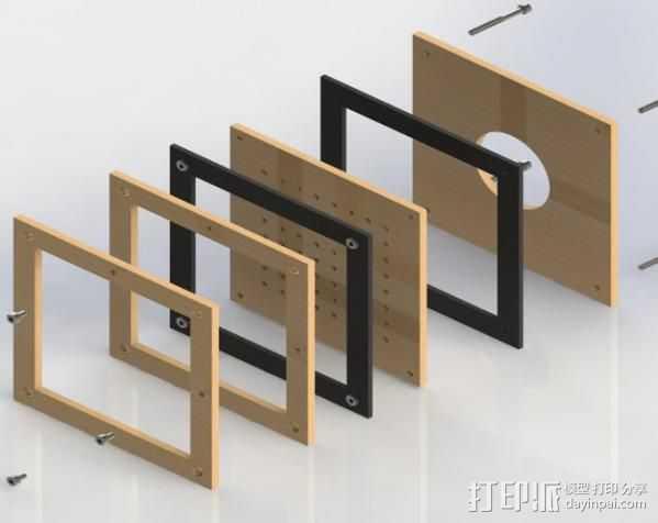 真空成形机 3D打印模型渲染图