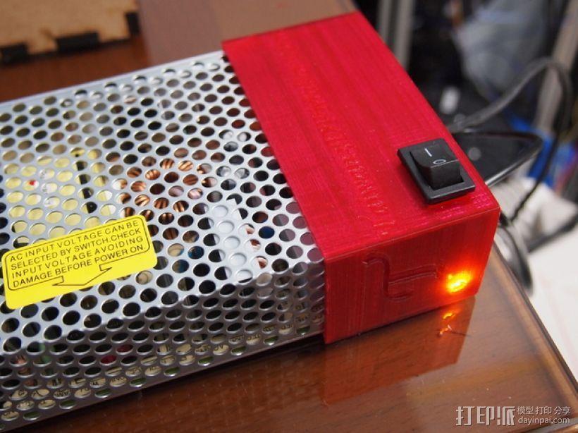 电源保护套 3D打印模型渲染图