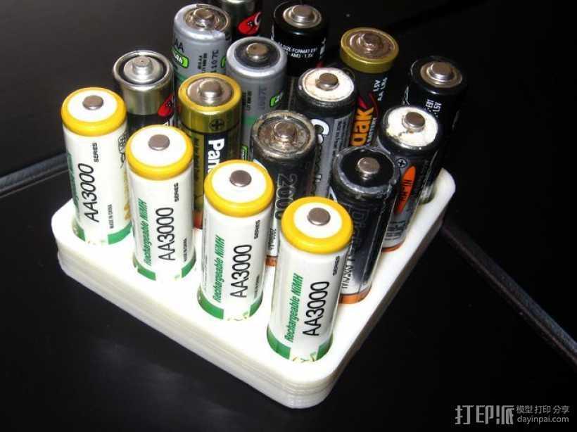电池收纳架 3D打印模型渲染图