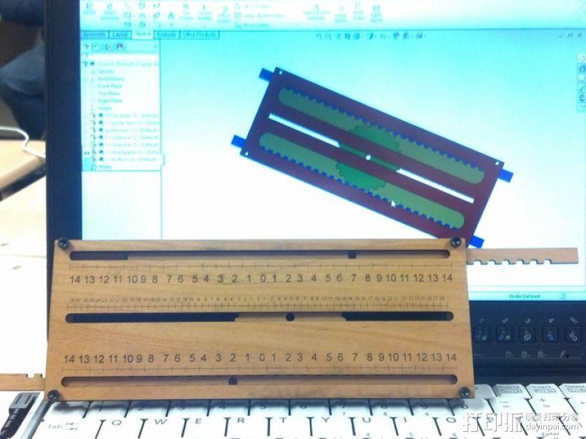 机械加法机 3D打印模型渲染图