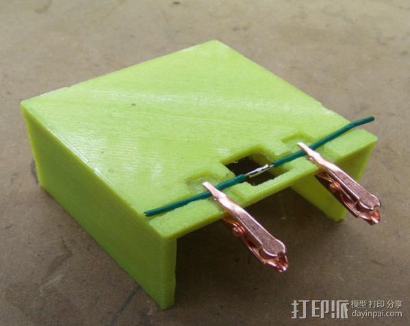 线缆接头夹具 3D打印模型渲染图