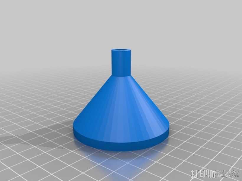 漏斗 3D打印模型渲染图