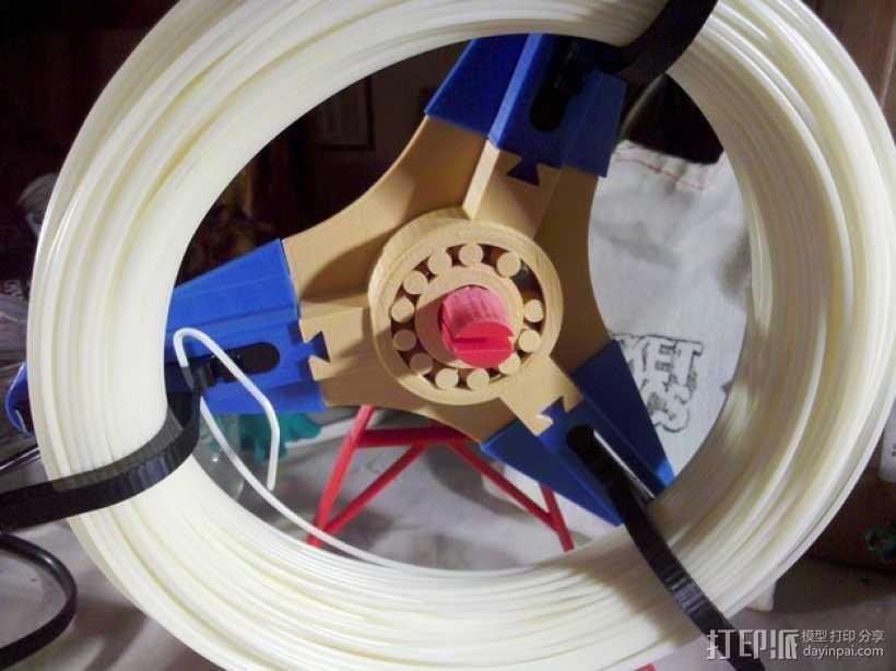 个性化线轴架 3D打印模型渲染图