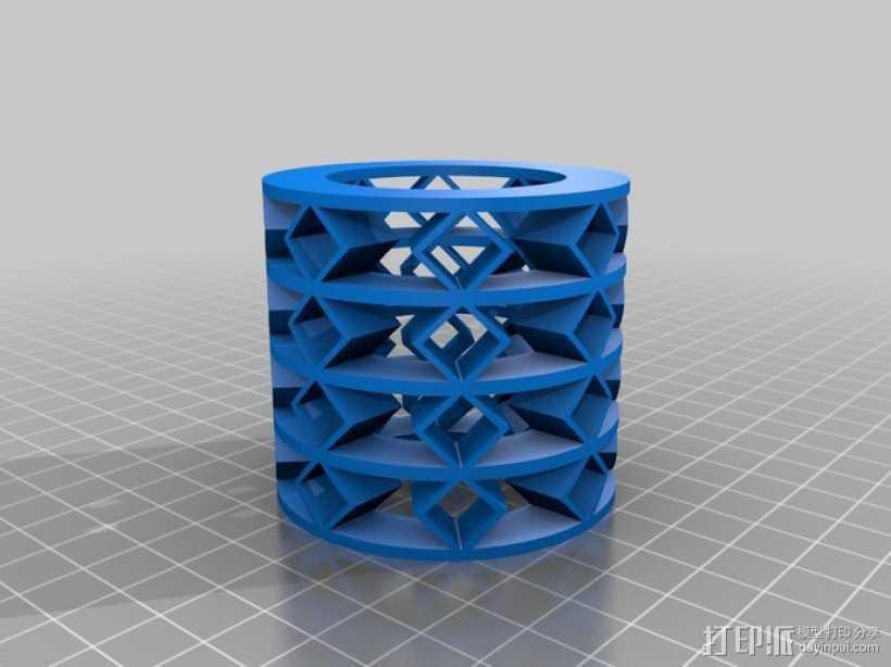 参数化弹簧 测试版 3D打印模型渲染图