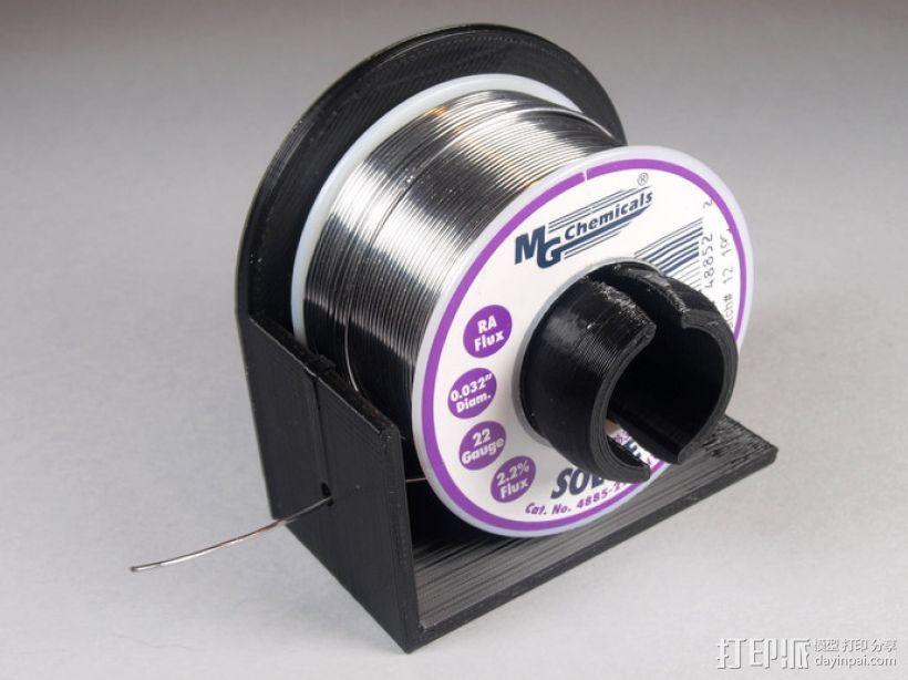焊料卷轴架 3D打印模型渲染图