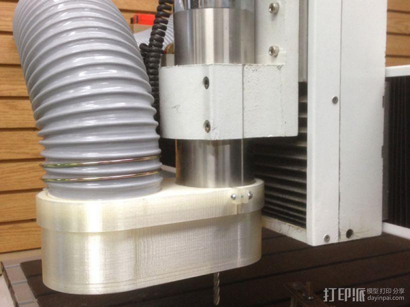 数控雕刻机 吸尘装置 3D打印模型渲染图