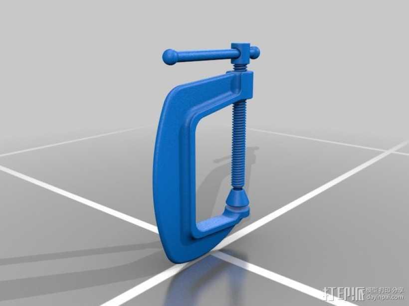 c形夹 3D打印模型渲染图