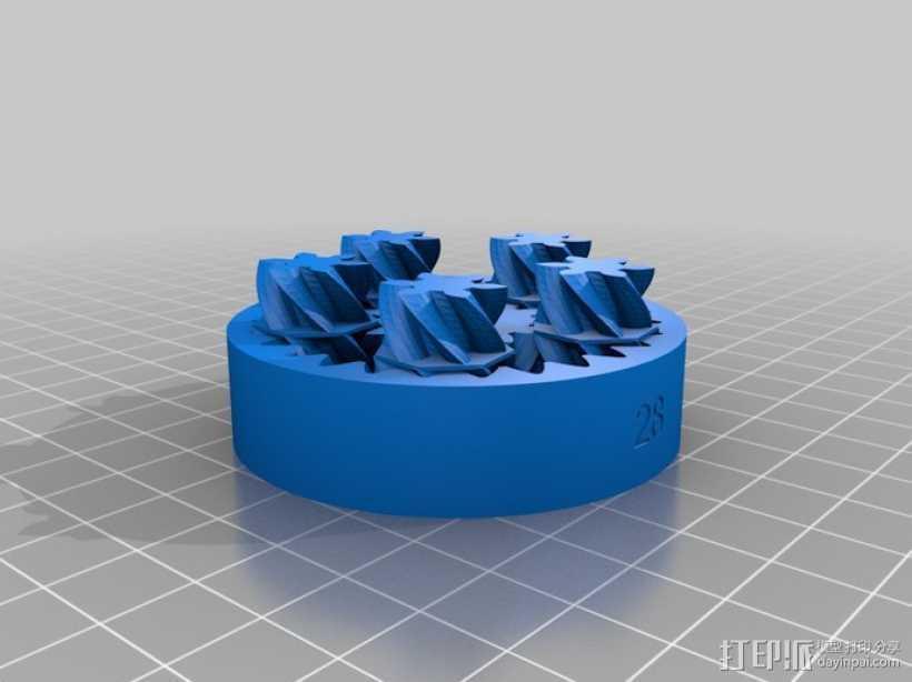 定制化齿轮差速器 3D打印模型渲染图