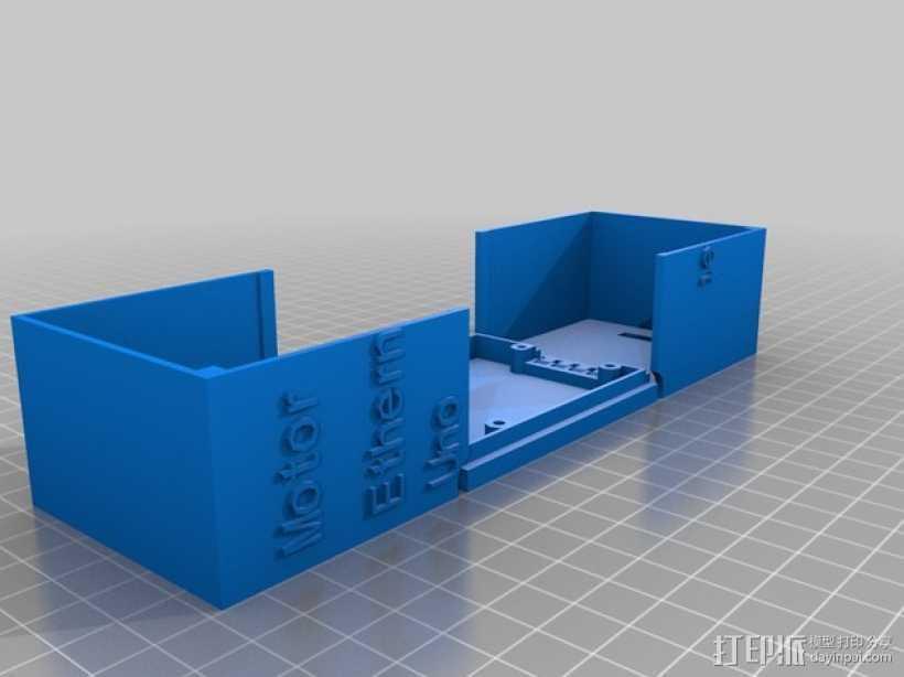 arduino电路板外壳  3D打印模型渲染图