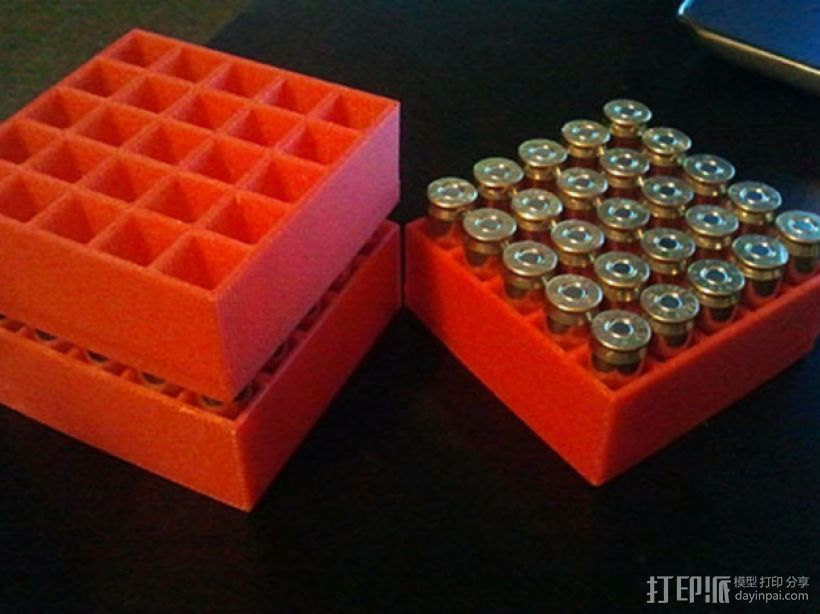 可堆叠弹药箱 3D打印模型渲染图