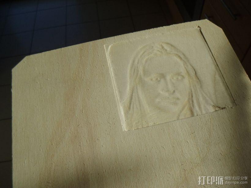 木质浮雕图片 3D打印模型渲染图