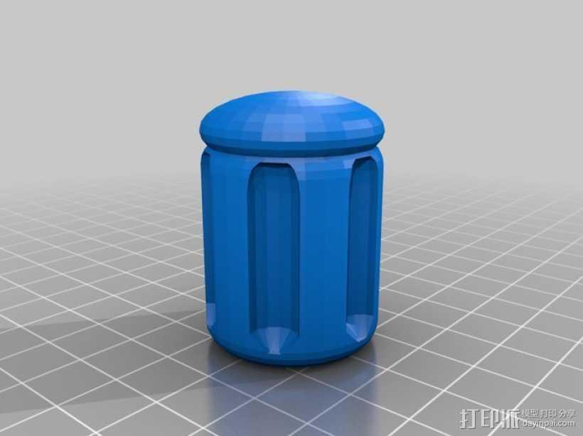 参数化螺丝刀把手 3D打印模型渲染图