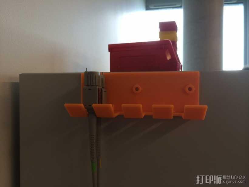 壁挂式线缆架 3D打印模型渲染图