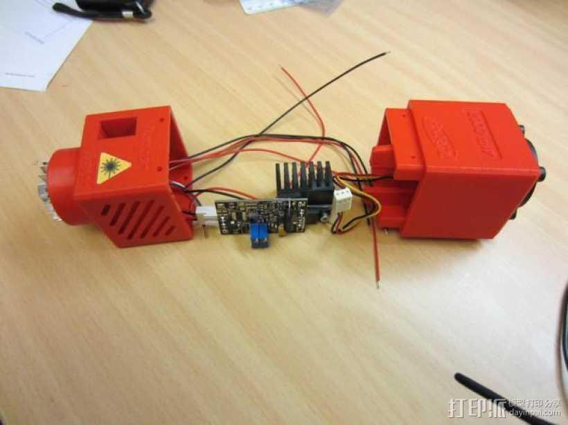 激光器外壳 3D打印模型渲染图