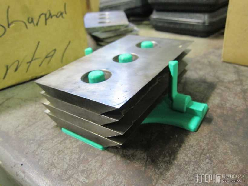 Bandit 250木片切削机 刀片架 3D打印模型渲染图
