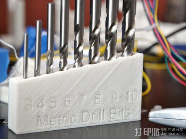 标准钻头置放架 3D打印模型渲染图