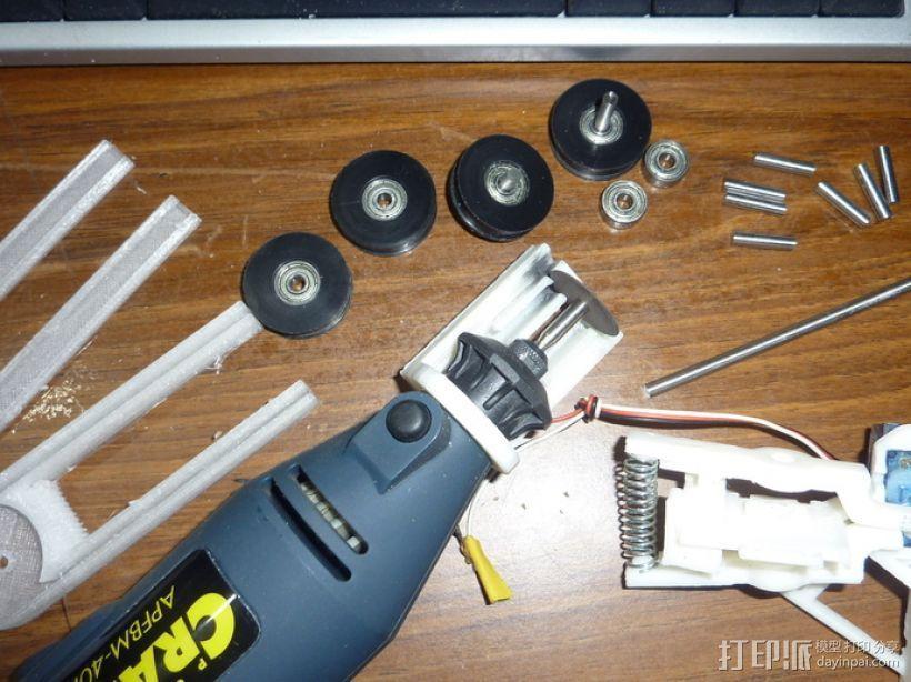 Demel电动切割工具 固定架 3D打印模型渲染图