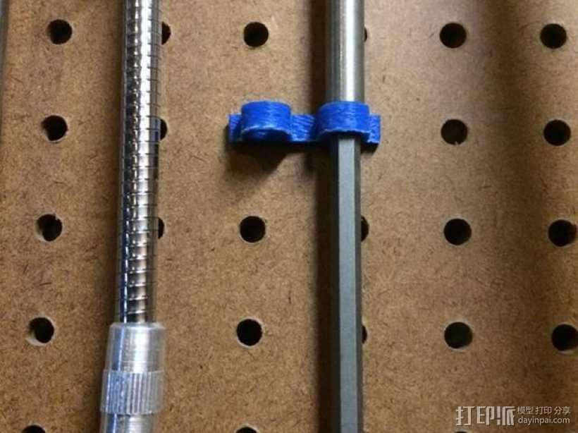 电动螺丝刀固定架 3D打印模型渲染图